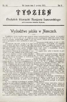"""Tydzień : dodatek literacki """"Kurjera Lwowskiego"""". 1900, nr48"""