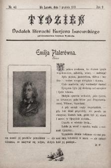 """Tydzień : dodatek literacki """"Kurjera Lwowskiego"""". 1901, nr48"""