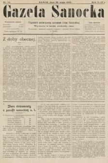 Gazeta Sanocka : tygodnik poświęcony sprawom ziemi Sanockiej. 1905, nr74