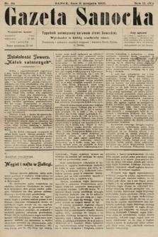 Gazeta Sanocka : tygodnik poświęcony sprawom ziemi Sanockiej. 1905, nr84