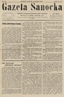 Gazeta Sanocka : tygodnik poświęcony sprawom ziemi Sanockiej. 1905, nr91