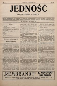 Jedność : organ żydów polskich. 1909, nr2