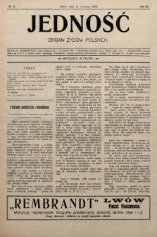 Jedność : organ żydów polskich. 1909, nr3