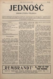 Jedność : organ żydów polskich. 1909, nr4