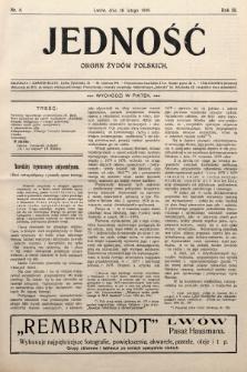 Jedność : organ żydów polskich. 1909, nr8
