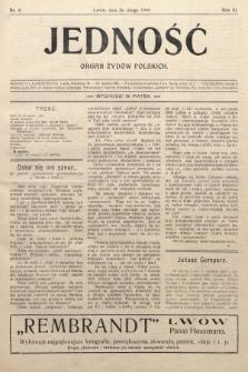 Jedność : organ żydów polskich. 1909, nr9