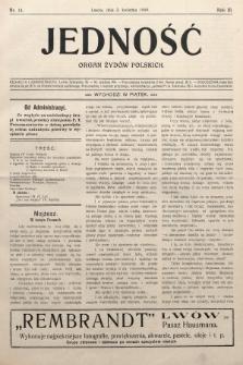 Jedność : organ żydów polskich. 1909, nr14