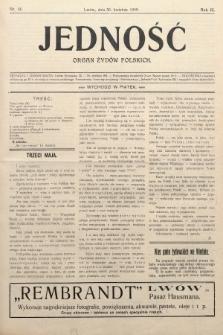 Jedność : organ żydów polskich. 1909, nr18