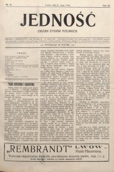 Jedność : organ żydów polskich. 1909, nr21