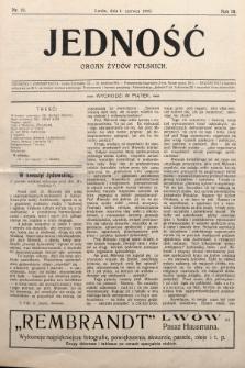 Jedność : organ żydów polskich. 1909, nr23