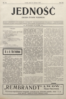 Jedność : organ żydów polskich. 1909, nr25