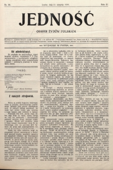 Jedność : organ żydów polskich. 1909, nr33
