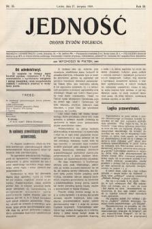 Jedność : organ żydów polskich. 1909, nr35