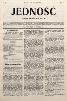 Jedność : organ żydów polskich. 1909, nr37