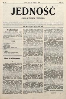 Jedność : organ żydów polskich. 1909, nr38