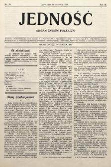 Jedność : organ żydów polskich. 1909, nr39