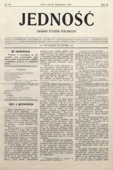 Jedność : organ żydów polskich. 1909, nr44