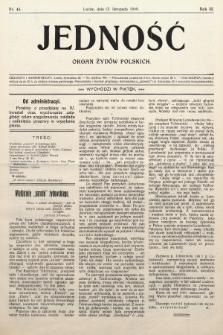 Jedność : organ żydów polskich. 1909, nr46
