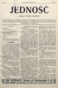 Jedność : organ żydów polskich. 1909, nr52