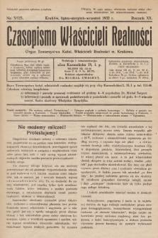 Czasopismo Właścicieli Realności. 1932, nr3