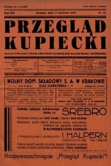 Przegląd Kupiecki : organ Związku Stowarzyszeń Kupieckich Małopolski Zachodniej. 1931, nr11