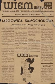 Wiem Wszystko : informacyjny tygodnik aktualności. 1936, nr1