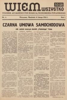 Wiem Wszystko : informacyjny tygodnik aktualności. 1936, nr4