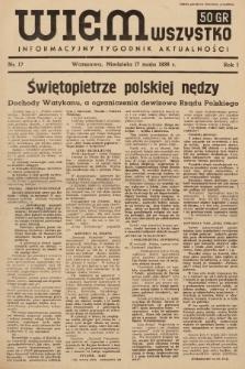 Wiem Wszystko : informacyjny tygodnik aktualności. 1936, nr17