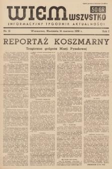 Wiem Wszystko : informacyjny tygodnik aktualności. 1936, nr21