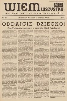 Wiem Wszystko : informacyjny tygodnik aktualności. 1936, nr22