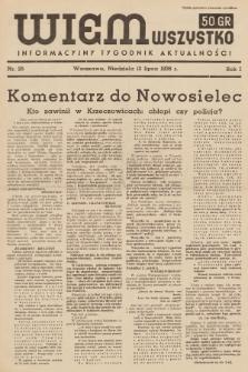 Wiem Wszystko : informacyjny tygodnik aktualności. 1936, nr25