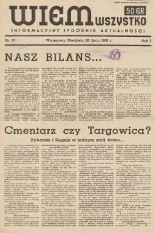 Wiem Wszystko : informacyjny tygodnik aktualności. 1936, nr27