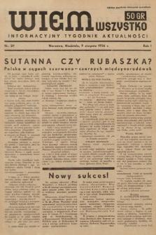 Wiem Wszystko : informacyjny tygodnik aktualności. 1936, nr29