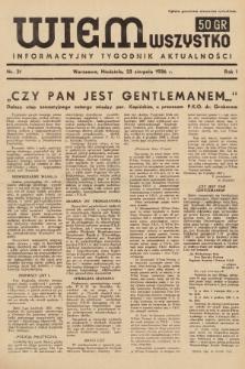 Wiem Wszystko : informacyjny tygodnik aktualności. 1936, nr31