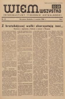 Wiem Wszystko : informacyjny tygodnik aktualności. 1936, nr33