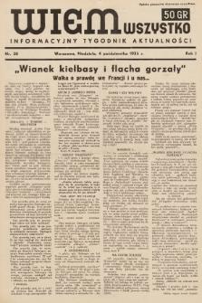 Wiem Wszystko : informacyjny tygodnik aktualności. 1936, nr38