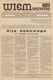 Wiem Wszystko : informacyjny tygodnik aktualności. 1936, nr45