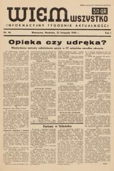 Wiem Wszystko : informacyjny tygodnik aktualności. 1936, nr46