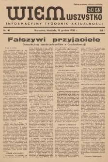 Wiem Wszystko : informacyjny tygodnik aktualności. 1936, nr49
