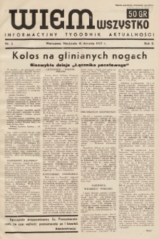 Wiem Wszystko : informacyjny tygodnik aktualności. 1937, nr2
