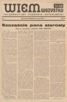 Wiem Wszystko : informacyjny tygodnik aktualności. 1937, nr7