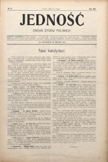 Jedność : organ żydów polskich. 1907, nr11