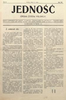 Jedność : organ żydów polskich. 1907, nr13
