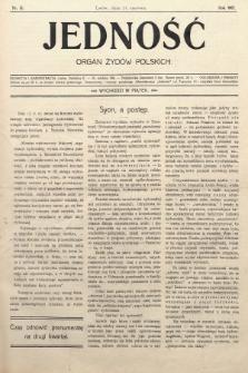 Jedność : organ żydów polskich. 1907, nr15