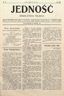 Jedność : organ żydów polskich. 1907, nr17