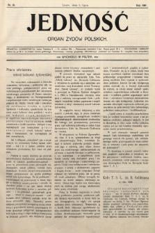 Jedność : organ żydów polskich. 1907, nr18
