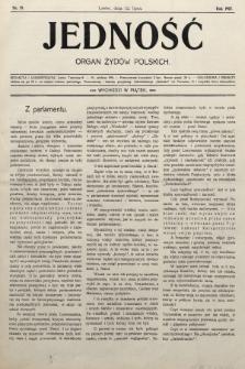 Jedność : organ żydów polskich. 1907, nr19