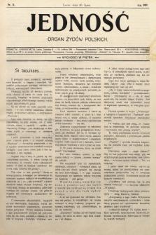 Jedność : organ żydów polskich. 1907, nr21