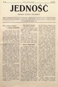 Jedność : organ żydów polskich. 1907, nr22