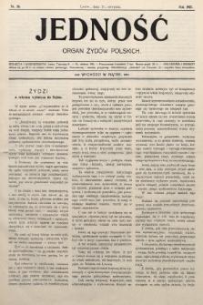 Jedność : organ żydów polskich. 1907, nr26